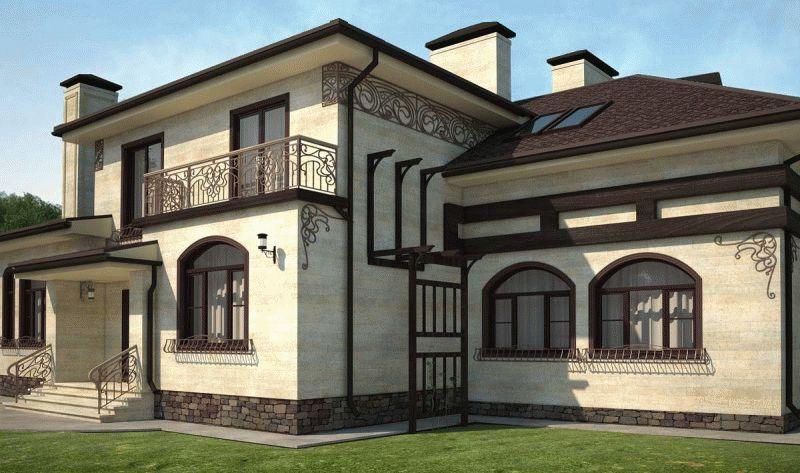 Вентилируемый фасад из искусственного камня