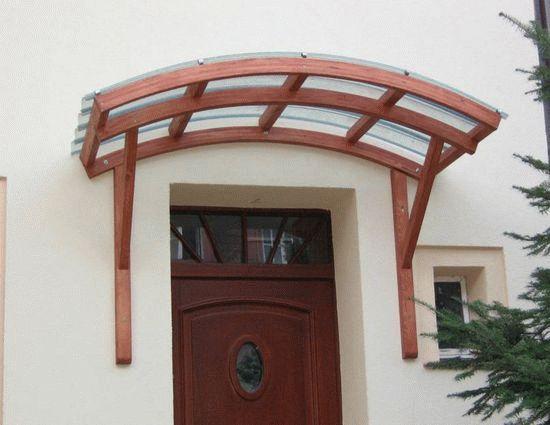 Козырек односкатный над входом
