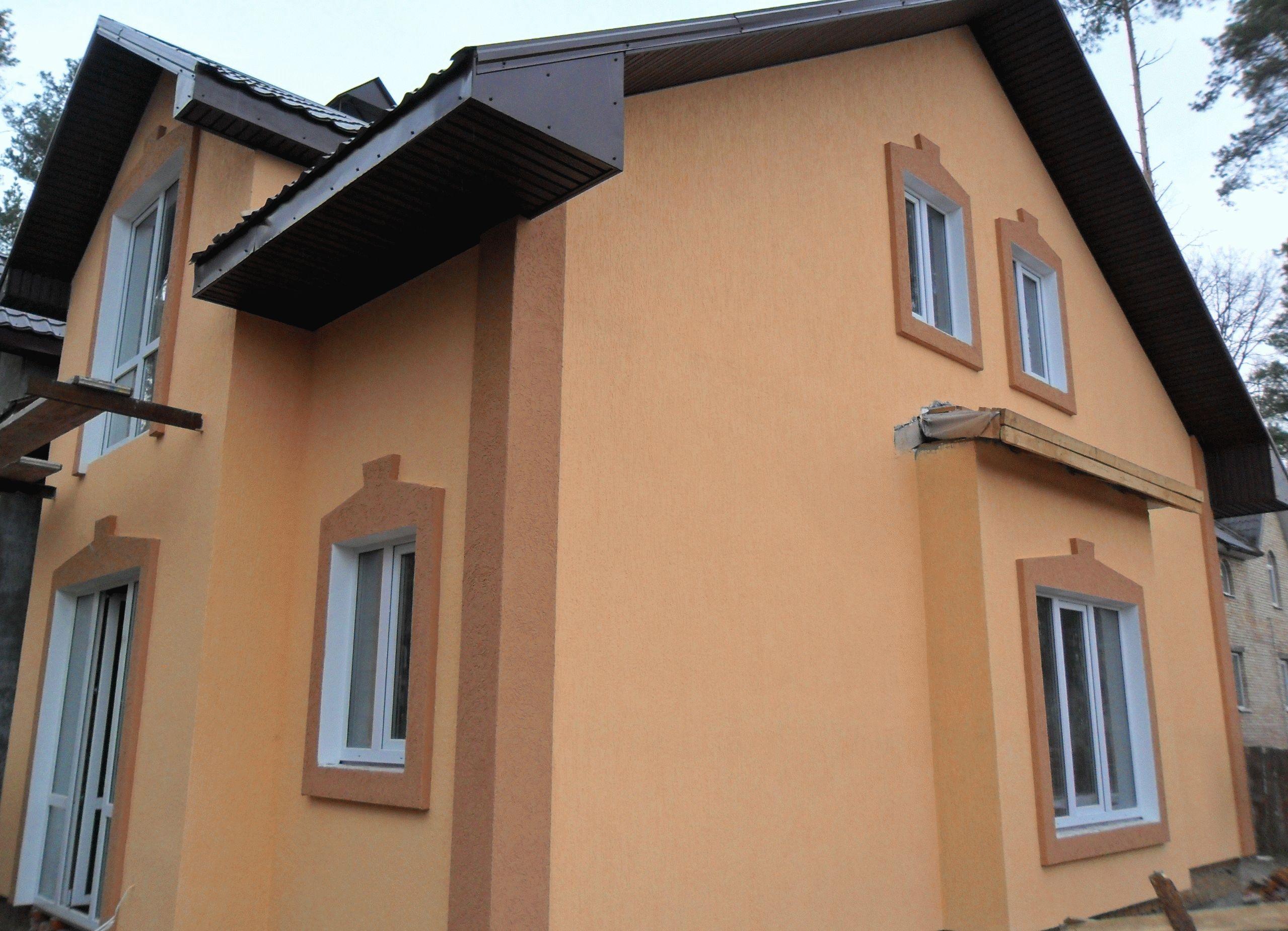 фото домов с фактурной штукатуркой что